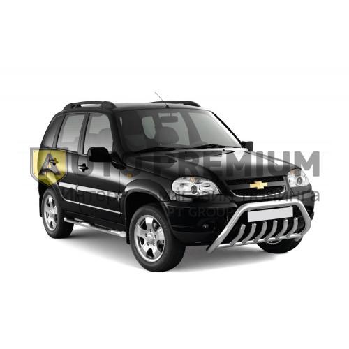 Рейлинги «Усиленные» на Chevrolet NIVA с 2002 (Черный муар)