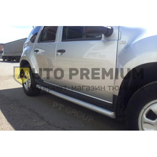 Защита порогов вогнутая Ø63 мм (ППК) Nissan Terrano с 2014